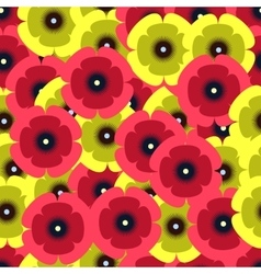 red and yellow poopies pattern vector image vector image