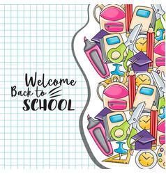 welcome back to school doodle clip art vector image vector image
