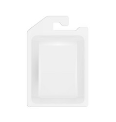 3d white product package box warp blister vector