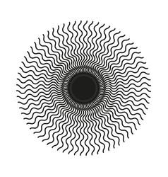 abstract circular wavy line pattern vector image