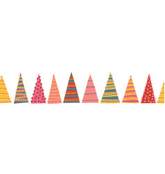 abstract colorful christmas trees seamless vector image