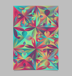 Abstract geometrical floral triangle brochure vector