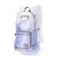 Aquarelle bag vector