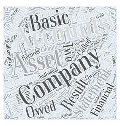 Basic accounting principles word cloud concept vector