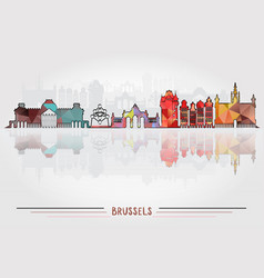 brussels city background vector image
