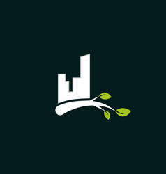 building leaf town creative business logo vector image