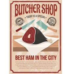 Butcher Shop Poster vector image vector image