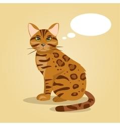 Cartoon cat thinks vector image