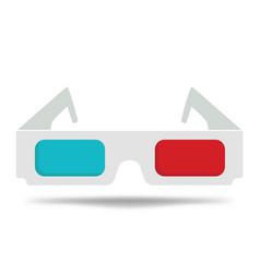cartoon glasses for cinema 3d glasses vector image