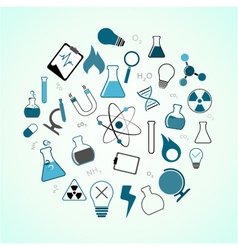 chemistry science icons vector image
