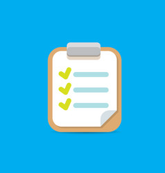 Clipboard icon with green checkmarks vector