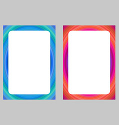 Colorful computer art design frame set vector