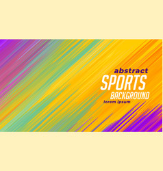 Colorful sports lines background vector