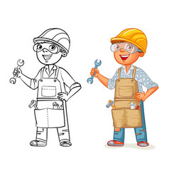 construction worker in uniform vector image
