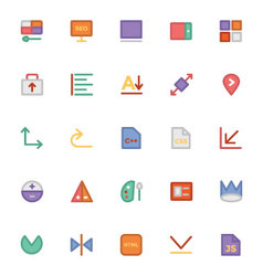 Design and Development Icons 11 vector image
