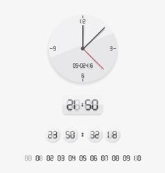 Digital and analog clock vector image