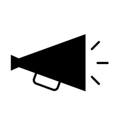 Director megaphone isolated icon vector
