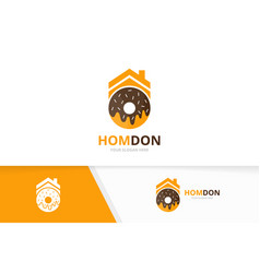 Donut and real estate logo combination vector