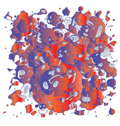 Doodle abstract and monster background vector