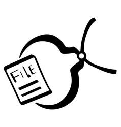 File pincer stencil vector
