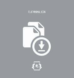 Files multiple downlad - flat minimal icon vector
