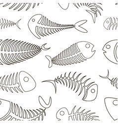 fishbone set pattern vector image