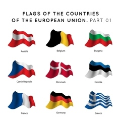 Flags of EU countries vector image