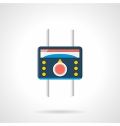 Flat style heated floor temperature icon vector