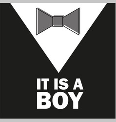 Gentelman the bow tie - baby shower boy - little vector
