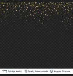 golden stars festive confetti blurred in motion vector image