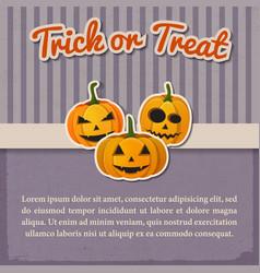 greeting halloween vintage template vector image