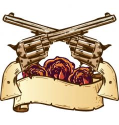 Guns roses vector