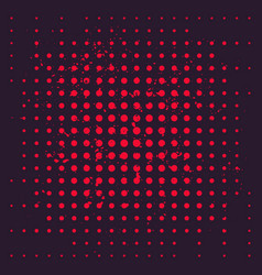 halftone background with red dots vector image