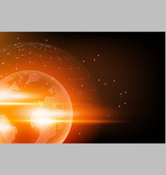 holographic globe with continents computer vector image