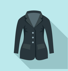horse riding jacket icon flat style vector image