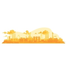 Industrial plant on a background vector image