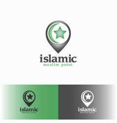 Islamic - muslim point logo template vector