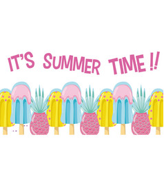 Its summer time card concept vector