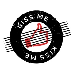 Kiss Me rubber stamp vector