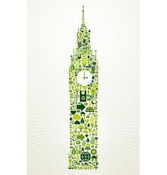 London go green concept vector