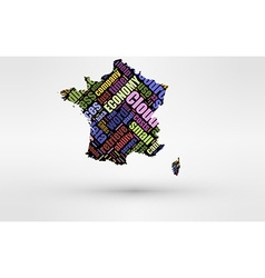 map france theme economy and global finance vector image