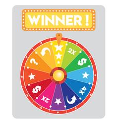 Multicolored lucky wheel flat vector