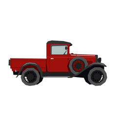nursery retro truck drawing pickup car vector image