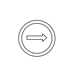 Only right turn icon vector