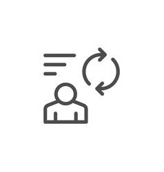 person feedback line icon vector image