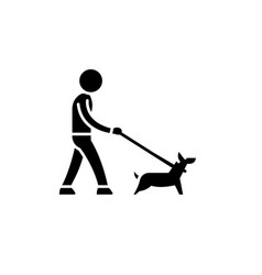 pet care black icon sign on isolated vector image