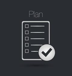 plan icon vector image