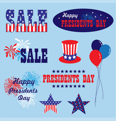 Presidents day clipart vector