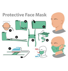 Protective face mask vector