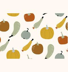 pumpkin seamless pattern autumn texture vector image